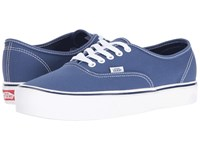 Vans Authentic Lite Canvas Stv Navy Skate Shoes Blue