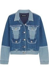 House Of Holland Patchwork Stretch Denim Jacket