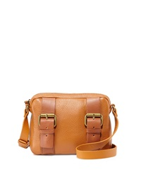 Kelsi Dagger Grasslands Buckled Leather Crossbody Bag Cognac