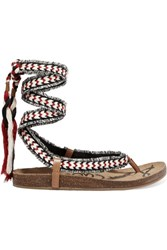 Sam Edelman Kelby Tasseled Woven Sandals Red