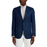 Brioni Ravello Wool Two Button Sportcoat Blue