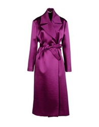 Barbara Casasola Full Length Jackets Purple