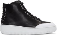 Mcq By Alexander Mcqueen Black Netil High Top Sneakers