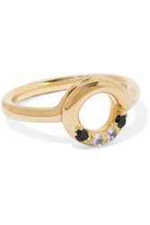 Elizabeth And James Mora Gold Tone Crystal Ring 7