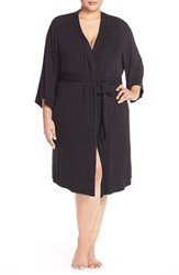 Plus Size Women's Nordstrom Lingerie 'Moonlight' Jersey Robe Black