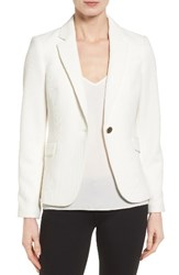 Vince Camuto Women's Grid Texture One Button Blazer New Ivory