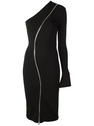 Givenchy Zip Asymmetric Dress Black