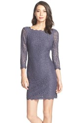 Women's Adrianna Papell Lace Overlay Sheath Dress Bridal Gunmetal