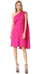 Narciso Rodriguez One Shoulder Dress Fuchsia