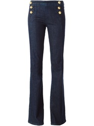 Ermanno Scervino Bootcut High Waisted Trousers Blue