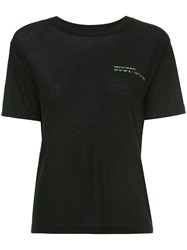 Song For The Mute Coordinates Slim Tee Black