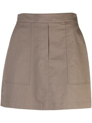Theory Short Cargo Skirt Green