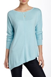 Cullen Asymmetric Boatneck Tunic Blue