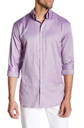 Giorgio Armani Texture Pattern Spread Collar Shirt Purple