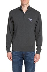 Cutter And Buck Big Tall Tennessee Titans Lakemont Regular Fit Quarter Zip Sweater Charcoal Heather