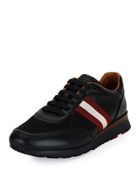 Bally Leather Trainer Sneakers W Trainspotting Stripe Black