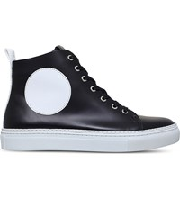 Mcq By Alexander Mcqueen Chris Leather High Top Trainers Black