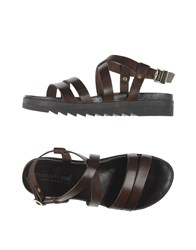 Fabrizio Chini Footwear Sandals Women Dark Brown