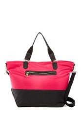 Steve Madden Cori Nylon Faux Leather Weekend Bag Pink