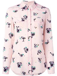 Coach Bird Print Shirt Pink Purple