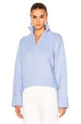 Protagonist Chunky Knit Sweater In Blue