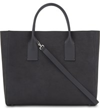 Brunello Cucinelli Leather Tote Bag Charcoal