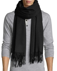 Canada Goose Solid Wool Fringed End Scarf Black