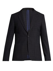 Paul Smith Notch Lapel Wool Blazer Navy