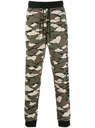 Love Moschino Camouflage Track Pants Green