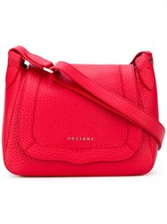 Orciani Flap Shoulder Bag Women Calf Leather One Size Red