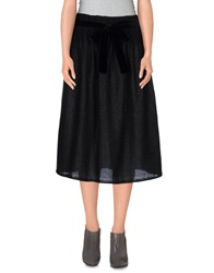 Soho De Luxe Knee Length Skirts Black