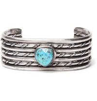 Foundwell Vintage 1980S Sterling Silver Turquoise Cuff Silver