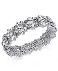 Charter Club Crystal Stone Stretch Bracelet Only At Macy's Silver