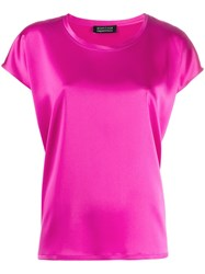 Gianluca Capannolo Round Neck Slouchy T Shirt Pink