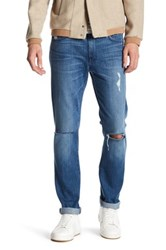 7 For All Mankind Slimmy Straight Leg Jean Yellow