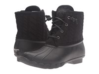 Sperry Saltwater Rope Emboss Neoprene Black Women's Lace Up Boots