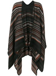 M Missoni Cape Scarf Wool Black