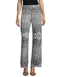Philosophy Mid Rise Palazzo Pants Mirrored Leopard