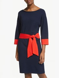 Boden Esmeralda Knitted Tie Dress Navy