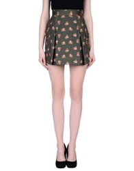 Marco Bologna Mini Skirts Military Green