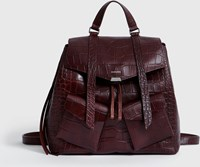 Allsaints Polly Mini Leather Backpack Bordeaux Red
