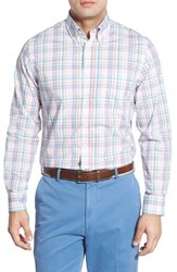 Men's Bobby Jones Classic Fit Long Sleeve Plaid Poplin Sport Shirt