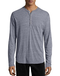 Ag Adriano Goldschmied Long Sleeve Henley Shirt Heather Gray