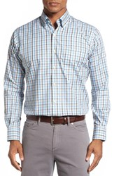 Peter Millar Men's Norway Regular Fit Check Sport Shirt