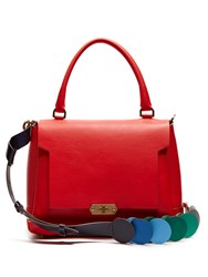 Anya Hindmarch Circle Bathurst Small Leather Bag Red Multi