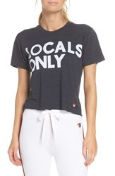 Aviator Nation Locals Only Boyfriend Tee Charcoal
