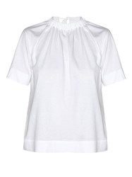 Marni Tie Back Jersey Blouse White