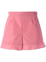 Red Valentino Ruffled Hem Shorts Pink Purple