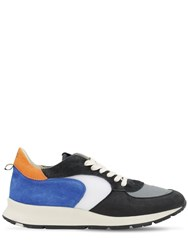 Philippe Model Montecarlo Leather Sneakers Blue