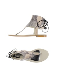 Miss Sixty Thong Sandals Beige